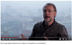 Karl Lang explains Epsons CLO output in comparison to competitors