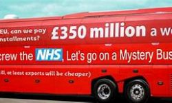 Picture - The Brexit Bus subverted
